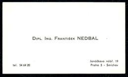 B7337 - Prag Praha - Frantisek Nedbal - Visitenkarte - Visitenkarten