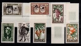 Algerie - Annee 1950 & 1951 Completes N** YV 279 à 287 Cote 38+ Euros - Nuovi