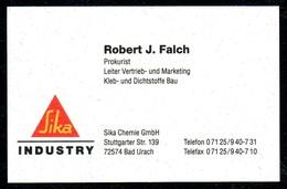 B7338 - Bad Urach - SIKA Industrie - Robert J. Falch Prokurist - Visitenkarte - Visitenkarten