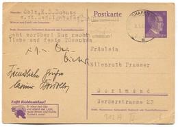 Germany 1943. WW2, Postkarte Seal Ludwigshafen - 2. Weltkrieg