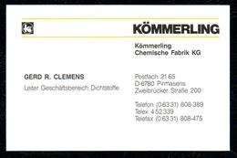 B7339 - Pirmasens - Kömmerling - Gerd R. Clemens Leiter Dichtstoffe - Visitenkarte - Visitenkarten