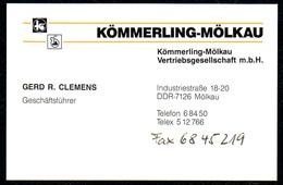 B7340 - Pirmasens - Kömmerling Mölkau - Gerd R. Clemens Geschäftsführer - Visitenkarte - Visitenkarten