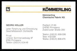 B7342 - Pirmasens - Kömmerling - Chemische Fabrik - Georg Holler - Visitenkarte - Visitenkarten