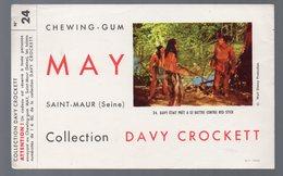 Saint Maur (94 Val De Marne) Buvard MAY  Davy Crockett N°24 (PPP9329) - Food