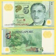 Singapore 5 Dollars P-47d 2014 UNC - Singapour