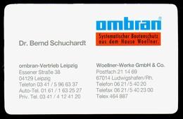 B7346 - Leipzig - Ombran - Dr. Bernd Schuchardt - Woellner Werke - Visitenkarte - Visitenkarten