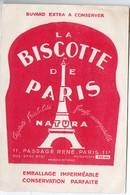 Paris Passage René: Buvard Biscottes NATURA La Biscotte De Paris (PPP9332) - Zwieback