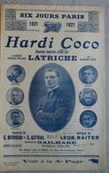PARTITION MUSICALE CYCLISME SIX JOURS DE PARIS 1921 HARDI COCO LATRICHE - Scores & Partitions