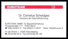 B7347 - Berlin - Altlandberg - EUROTEAM - Dr. Cornelius Scheidges - Visitenkarte - Visitenkarten