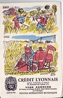 Buvard CREDIT LYONNAIS  1955 ..n°3 LA MOISSON (ill Hervé Baille) (PPP9335) - Bank & Insurance