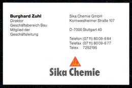 B7352 - Stuttgart - Sika Chemie - Berghard Zuhl - Direktor - Visitenkarte - Visitenkarten