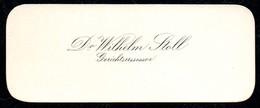 B7353 - Dr. Wilhelm Stoll - Gerichtsassessor - Visitenkarte - Visitenkarten