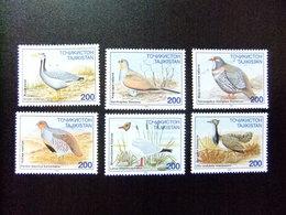 TAJIKISTAN 1996 FAUNE PAJAROS Oiseaux Yvert 75 / 80 **  MNH - Tayikistán