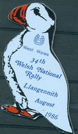 Badge  - West Wales 34th National Rally Llangennith - August 1986 - Autres Collections