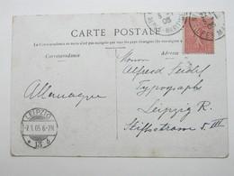 1905 , Leipzig , Klarer Maschinenstempel Auf Karte Aus Frankreich - Duitsland