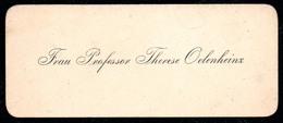 B7355 - Frau Professor Therese Oelenheinz - Visitenkarte - Visitenkarten