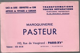 Paris Rue De Vaugirard : Buvard MAROQUINERIE PASTEUR  (PPP9340) - Other