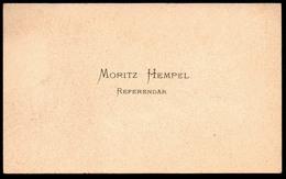 B7357 - Moritz Hempel Referendar - Visitenkarte - Visitenkarten