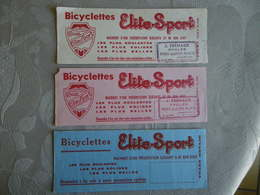 3 BUVARDS BICYCLETTES ELITE-SPORT FREMAUX PORT-SAINTE-MARIE - Bikes & Mopeds
