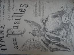 Très Rare Partition D' Ernest Sinoquet 1849-1904 ( Commune Allery Hallencourt) Hymne Des Fusillés (la Commune De Paris) - Scores & Partitions