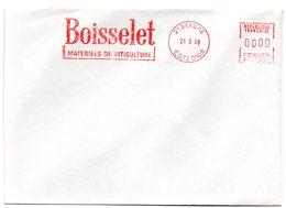 VIGNE & VIN = 21 BEAUNE 1988 = FLAMME ROUGE = EMA  ' Boisselet Matériels De Viticulture ' - Postmark Collection (Covers)