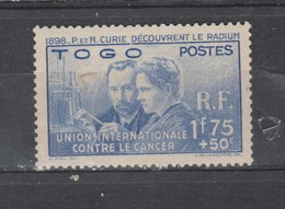 TOGO  1938  N° 171 Neuf (X) Curie - Unused Stamps