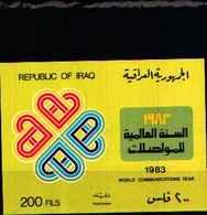 72147) LOTTO FRANCOBOLLI DELL' IRAK-foglietto N.35-ANNO INTERNAZIONALE DELLE COMUNICAZIONI. MNH** - Iraq