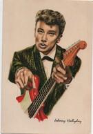 Portrait D'Artiste Façon Carte Postale/ Johnny HALLIDAY Et Guitare/Dessin/ /Publistar / Années 1960      PA187 - Entertainers