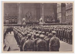 Dt.-Reich (000140) Propaganda Sammelbild, Deutschland Erwacht, Bild 119, Gefallenen Ehrung Vor Der Feldherrenhalle. - Briefe U. Dokumente