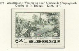 PIA - BELG - 1976 : Associazione Vereniging Voor Beschaafde Omgangstaal - Quadro Di P. Brugel  - (Yv  1826  ) - Arte