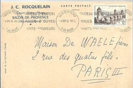 SALON DE PROVENCE  1956 - Marcofilia (sobres)
