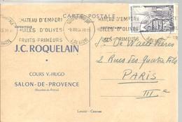 SALON DE PROVENCE  1955 - Marcofilia (sobres)