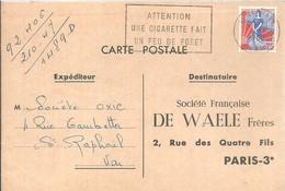 POSTMARKET FRANCIA  1960 - Protección Del Medio Ambiente Y Del Clima
