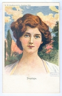 "Vintage C.W.Faulkner Series 350D ""Penelope"" Pc Signed T.W.H. Unused - Asti"