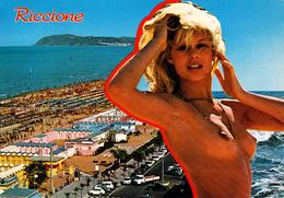 RIMINI - Riccione - Spiaggia - Pin Up - Donnina Sexy - Woman Sexy Pose - Shirtless - Nudo - Naked - Charme - 1980 - Rimini