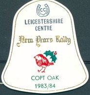 Badge  - Leicestershire Centre - New Years Rally - Copt Oak - 1983/1984 - Autres Collections