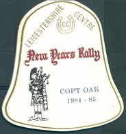 Badge  - Leicestershire Centre - New Years Rally - Copt Oak - 1984 - 1985 - Autres Collections