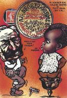 CPM Négritude Caricature Satirique Guerre 14-18 Patriotique Germany Kaiser Guillaume II Non Circulé Timbre Monnaie - Humoristiques
