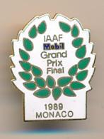 PIN'S : THEME SPORT, ATHLETISME, IAAF MOBIL GRAND PRIX FINAL, MONACO, 1989 - Athletics