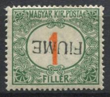 Fiume 1918 Nuovo * 100% Soprastampato Capovolta - 8. Occupazione 1a Guerra