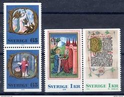 SWEDEN 1976 Christmas Set MNH / **.  Michel 966-69 - Sweden