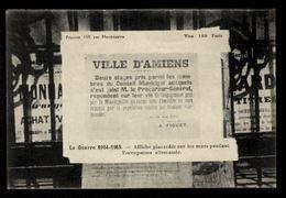 Ville D'Amiens - Douze Otages Pris Parmi Les Membres Du Conseil Municipal..... - Amiens