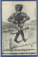 CPA Kronprinz Caricature Satirique Guerre 14-18 Patriotique Germany Kaiser Guillaume II écrite Verdun - Satirical