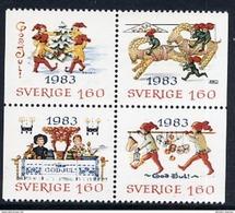 SWEDEN 1983 Christmas MNH / **.  Michel 1258-61 - Sweden