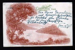 """1 P. Bild Ganzsache """"Hawkesbury River"""" - 1899 Ab Sydney Nach Deutschland - Cartas"""