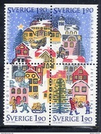 SWEDEN 1986 Christmas  MNH / **.  Michel 1409-12 - Unused Stamps