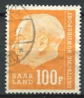 Sarre 1957 Mi. 426 Usato 100% Heuss - Germany