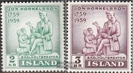 Island 331-332 (kompl.Ausg.) Gestempelt 1959 Jón Thorkelsson - 1944-... Republique
