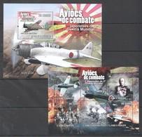 E1164 2010 S.TOME E PRINCIPE AVIATION AVIOES DE COMBATE WORLD WAR II 1KB+1BL MNH - 2. Weltkrieg