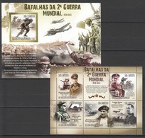 E1165 2010 S.TOME E PRINCIPE MILITARY & WAR WWII BATALHAS 1KB+1BL MNH - 2. Weltkrieg
